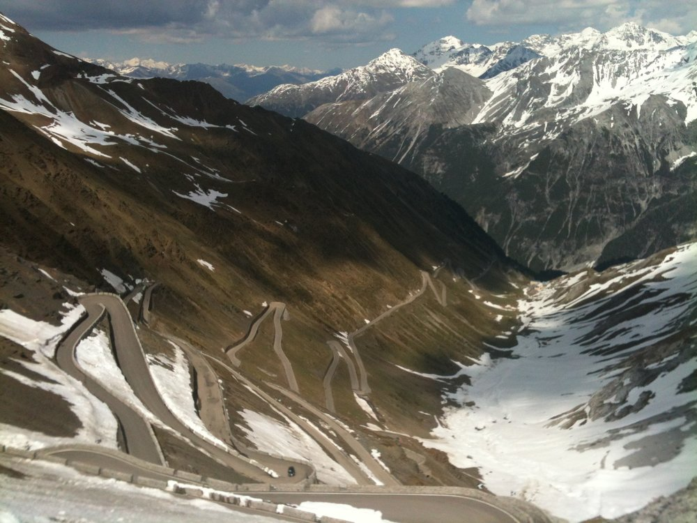 Quite a few local MMBCC roadies are currently in Bormio, in the north of Italy. About now they should be riding up the Passo Stelvio.