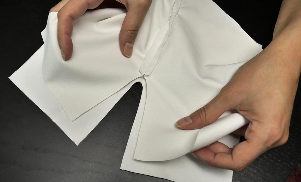 Align the crotch seams.