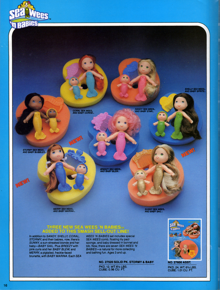 Sea Wees 'n Babies from Kenner Products, 1981.