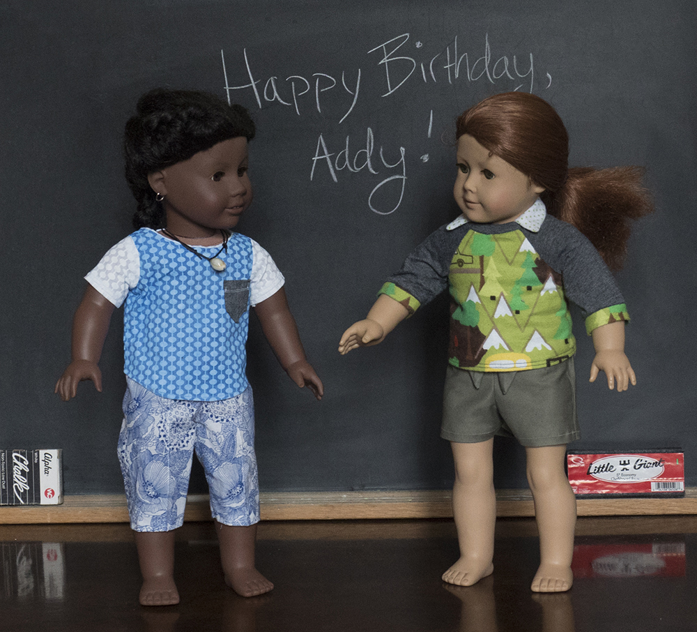 Felicity wishes Addy a happy birthday!