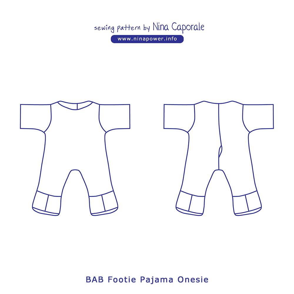BAB Footie Pajama Onesie Sewing Pattern — Nina Caporale