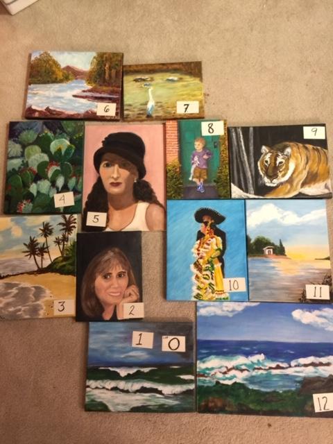 Paintings: Lot O, 1 through 12