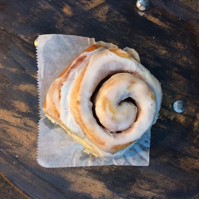 "Nothing says ""THANK YOU"" to your teacher like a Fresh Cinnamon Roll from The Humble Crumb! Stop by in the morning and pick some up...we OPEN at 6am!"