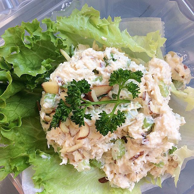 It's not too late to stop in for some Fresh Chicken Salad and house-baked Chips (Roasted Garlic OR Dill)! OPEN until Noon!