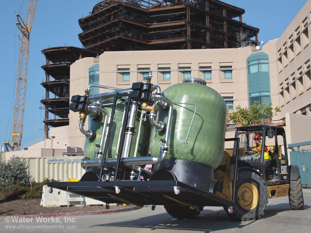 Water Works delivers pre-wired skid to the construction site