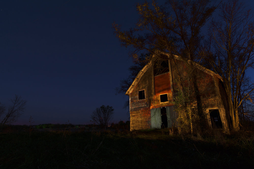 Lightpainting Barn 11/10/15