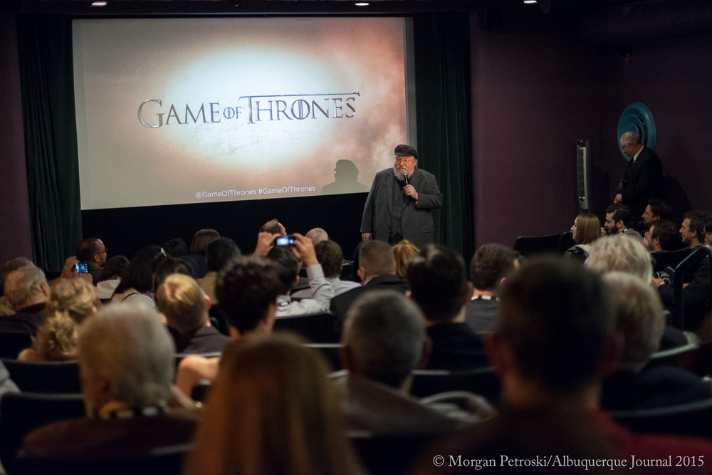 George RR Martin Game of Thrones Premiere