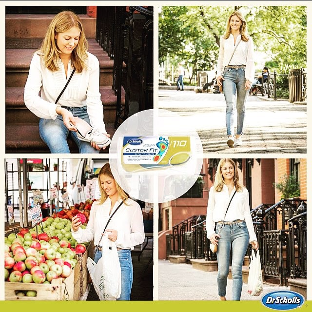 Sarah loved exploring the green market in Union Square while shooting for Dr. Scholl's Custom Fit Orthotics. Nothing gets you in the mood for fall more than shopping for apples!
