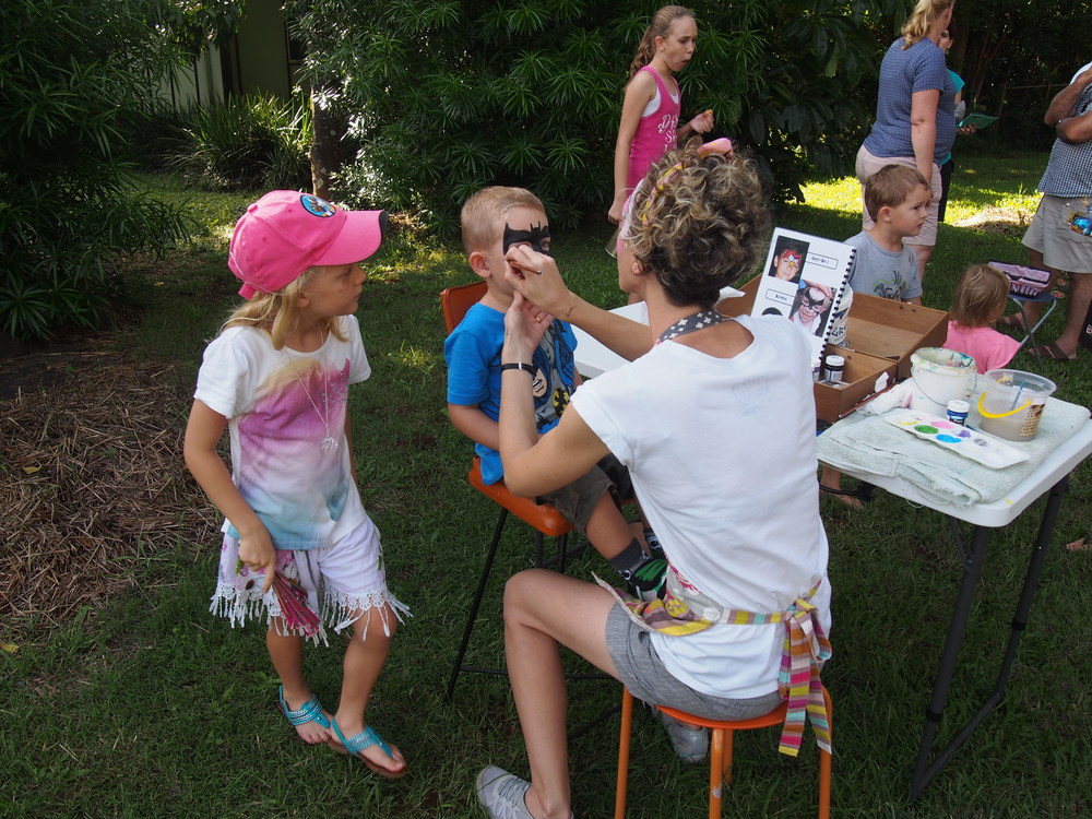 Face painting was a hit.  Thanks to the resident artist who volunteered her time.