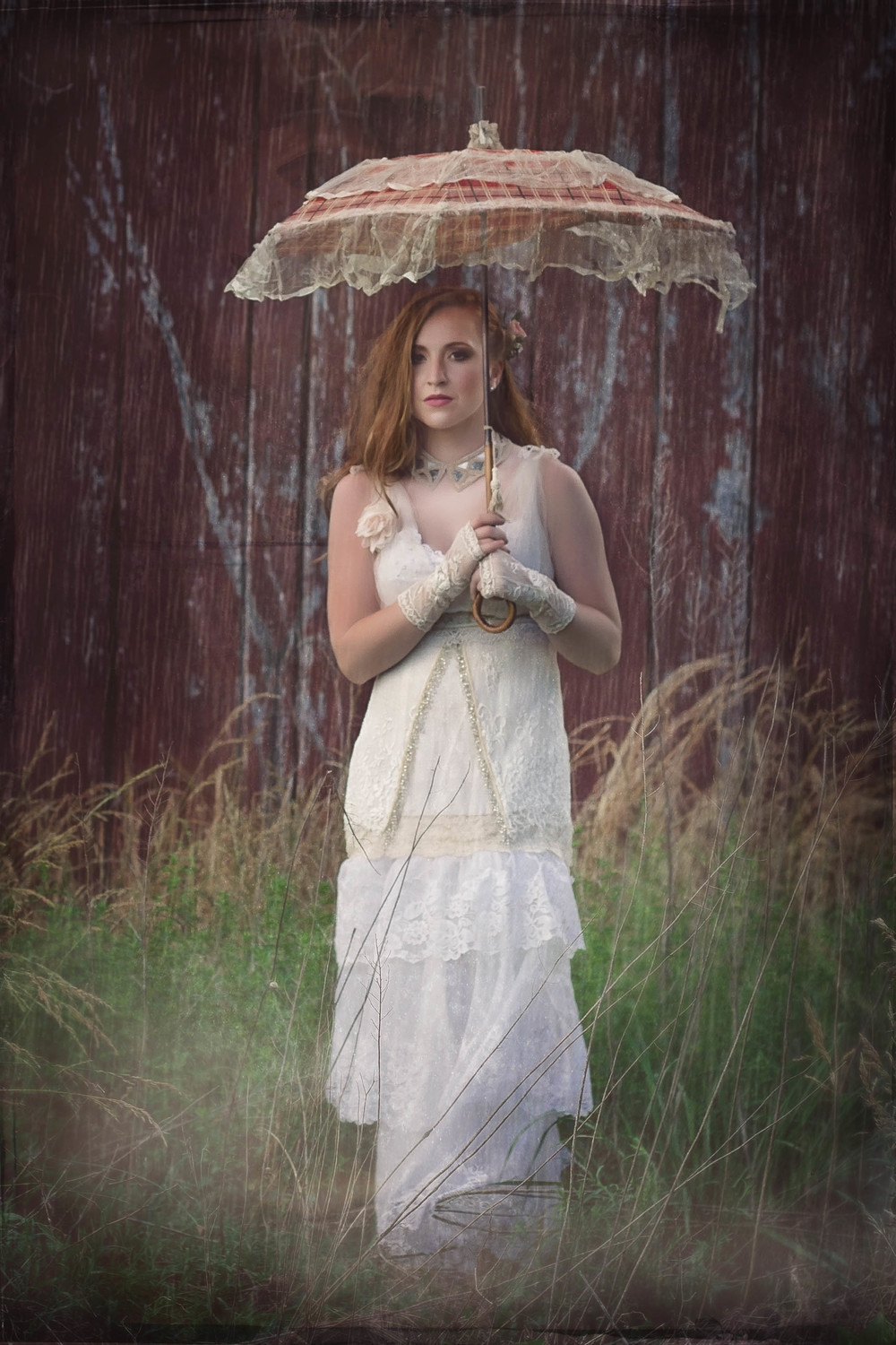 Vintage Wedding Gown and Parasol Maryland