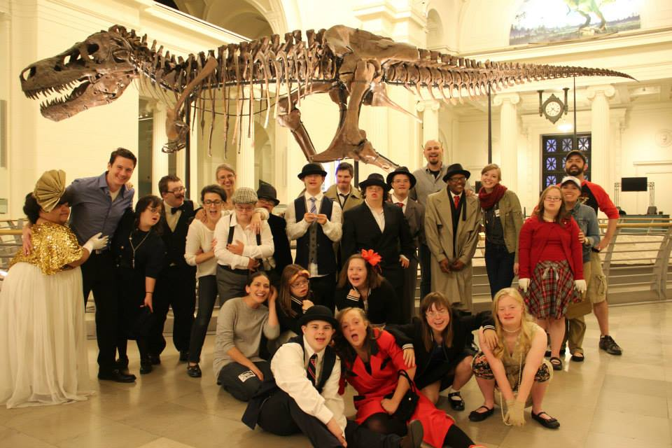 The cast and crew of  The Curse of the Tempest Jewel  on location at The Field Museum (October 2014)
