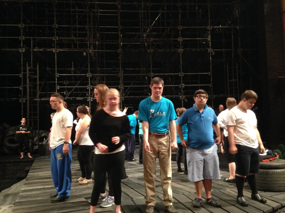 Our cast runs-through Sweet Viola before the house opens.