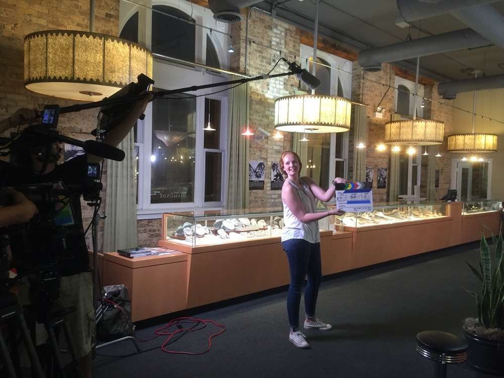 Margaret on-set at Fey & Co Jewelers during our first day of filming!