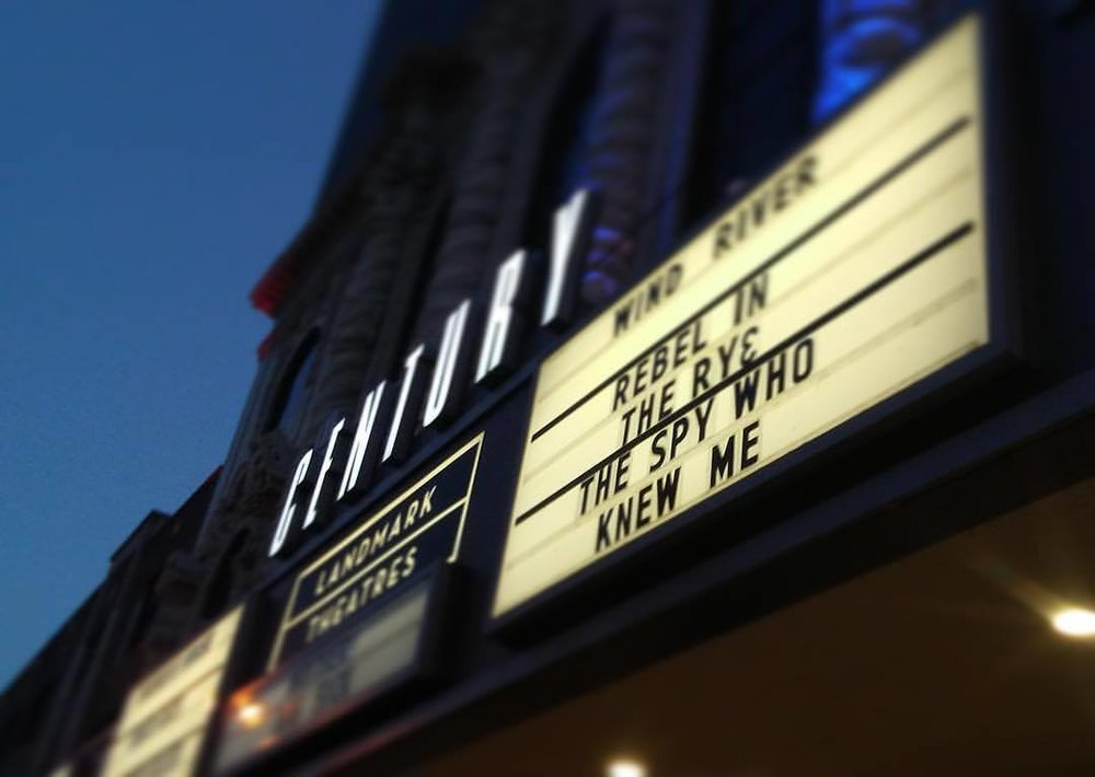 On the marquee for the premiere of our second feature film,   The Spy Who Knew Me    photo by Justin Bodary