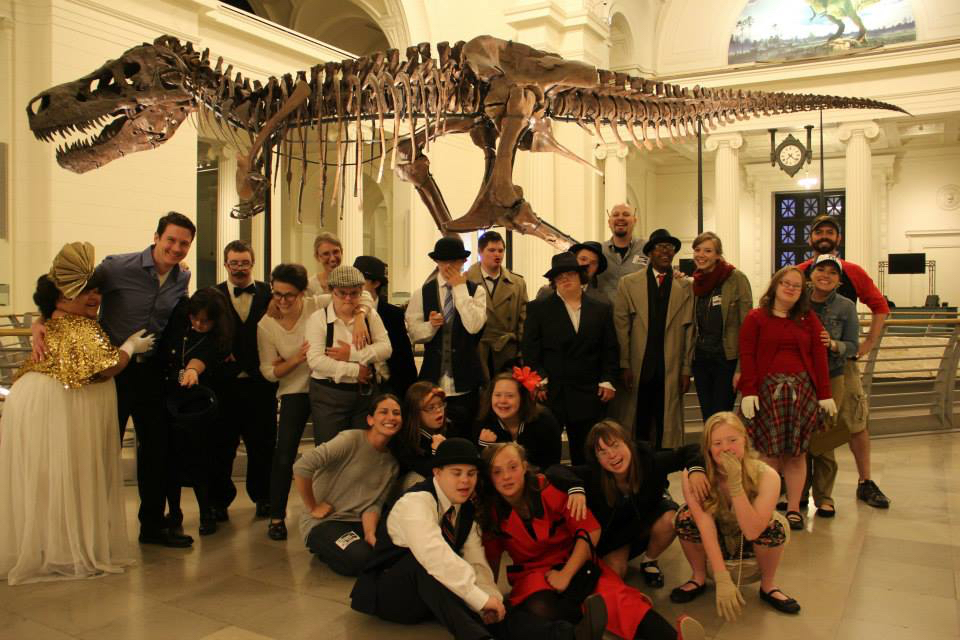 Our cast and crew on location at The Field Museum