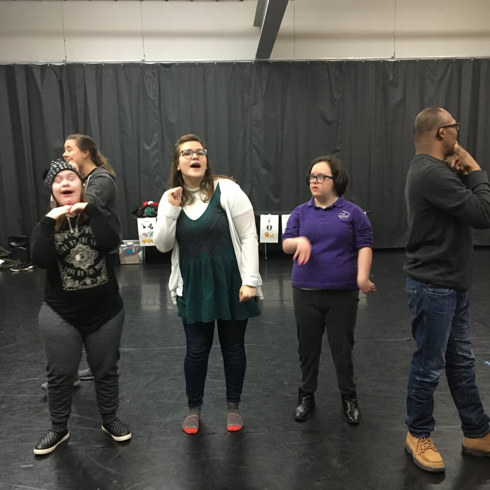 Special thanks to Rosie Bross, producing assistant from Chicago Shakespeare Theater, for joining (and singing with!) our Monday ensemble!