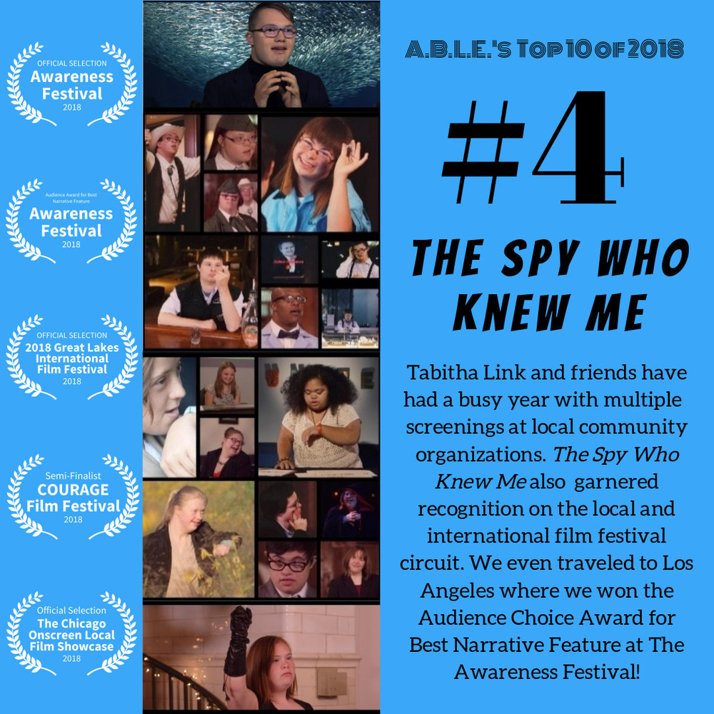 We've hosted local private screenings for Vaughn Occupational High School, Northwestern University, and Misericordia.   The Spy Who Knew Me   was also an official selection for the  2018 Chicago Onscreen Showcase  and was screened at various parks around the city through the Chicago Park District's Movies in the Park program. We were a semi-finalist for the Courage Film Festival in Berlin, an official selection for the Great Lakes International Film Festival, and    travelled to Los Angeles in October where we won the Audience Choice Award for Best Narrative Feature at The Awareness Festival   .