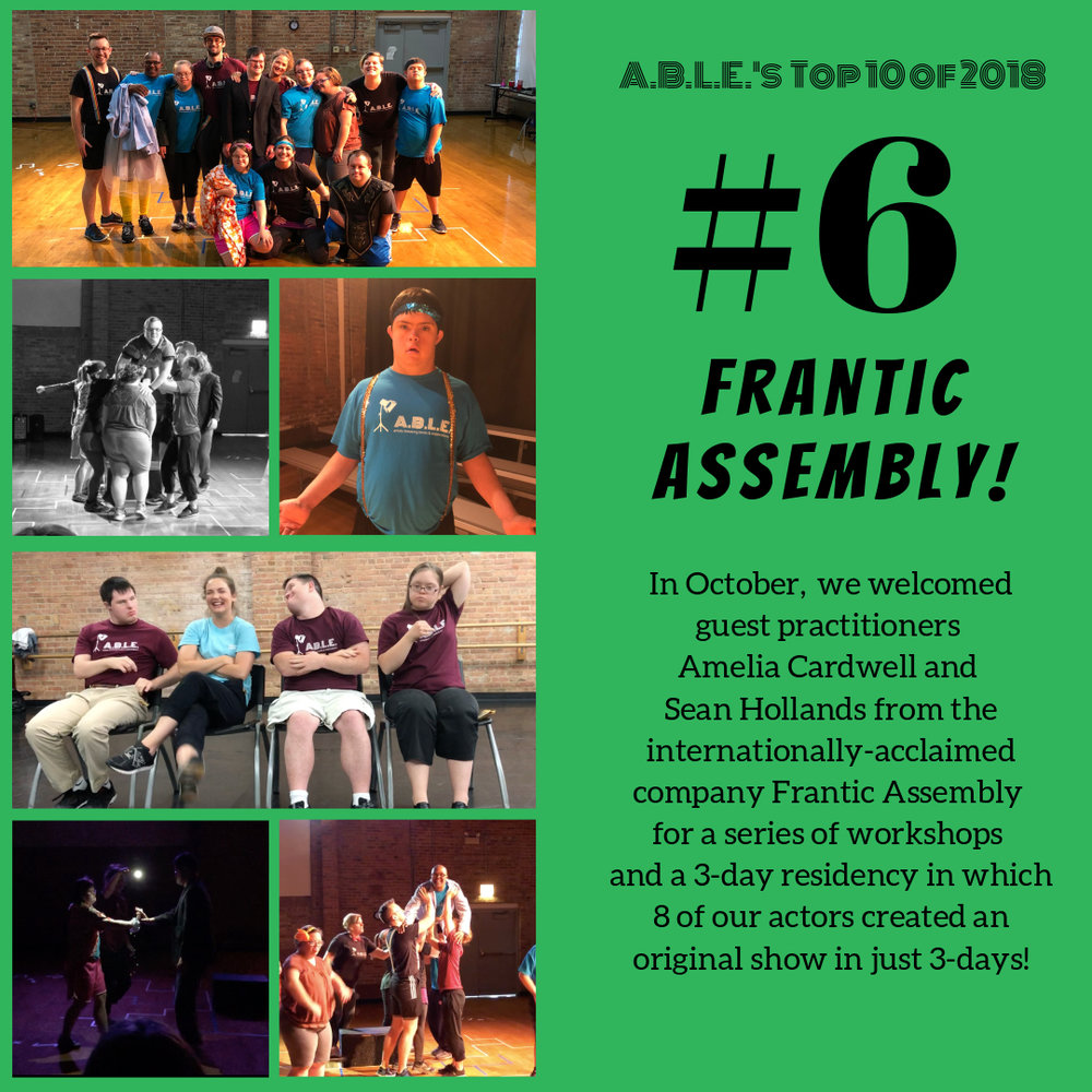 Read more about our week with Frantic Assembly on the blog    and click the photo to watch our full Residency Performance on YouTube