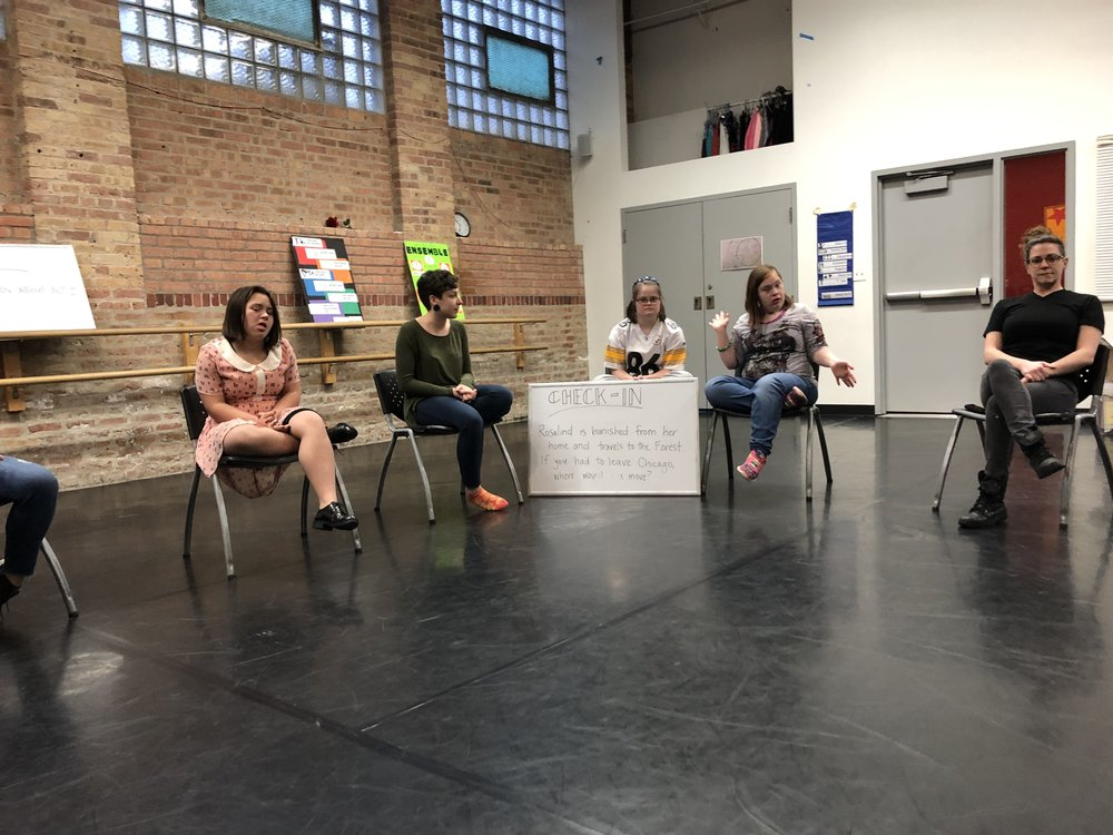 Members of the Monday ensemble listen and share their responses to our weekly check-in question:  Rosalind is banished from her home in the court and moves to the Forest. If you had to leave Chicago, where would you move?
