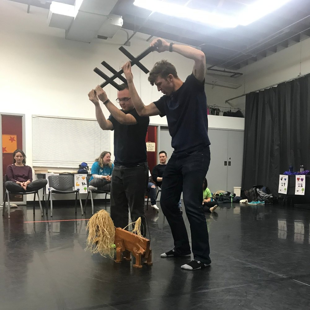 This is hard to capture in a blog post, but the lion marionette makes the most wonderful sound as it walks. You'll have to come to the show and see it in action….