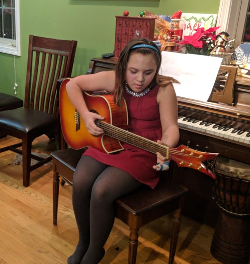 Sandia practices some music