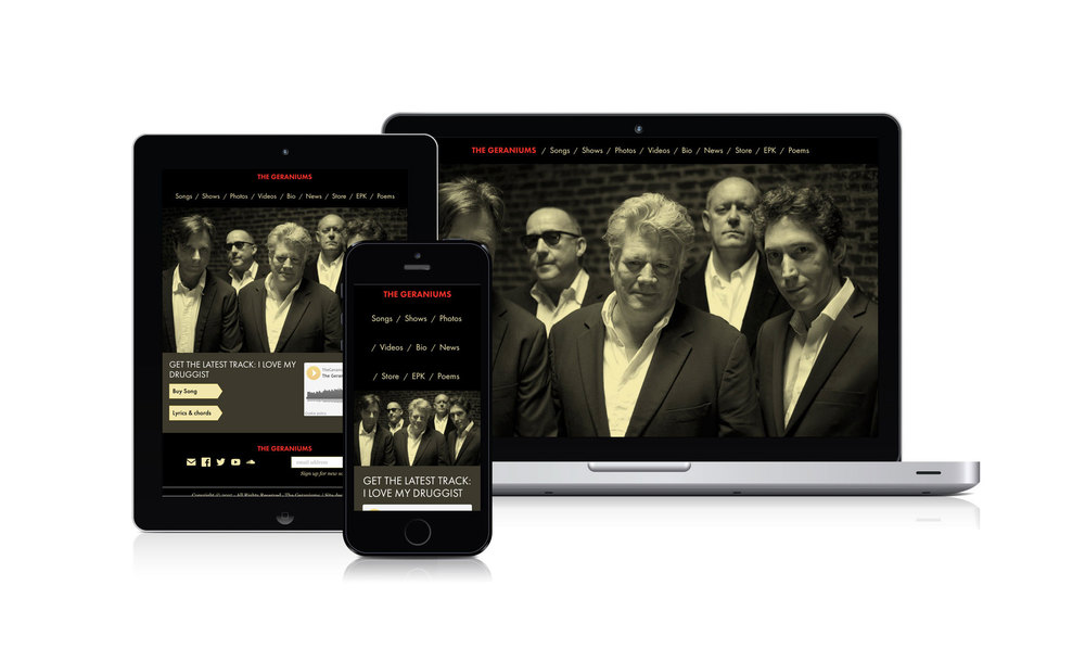 We designed a website that reflects the extraordinary creativity of the New Orleans band The Geraniums and also presents information in a user friendly way, so that fans, managers, bookers, media and music industry professionals can quickly find what they were looking for. www.thegeraniums.com