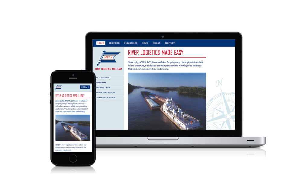 The barging company MBLX, Inc. not only needed a website that showcased their core services and benefits, but also provided user friendly features for their customers, including conversion tools, transit times and a river map. www.mblx.com