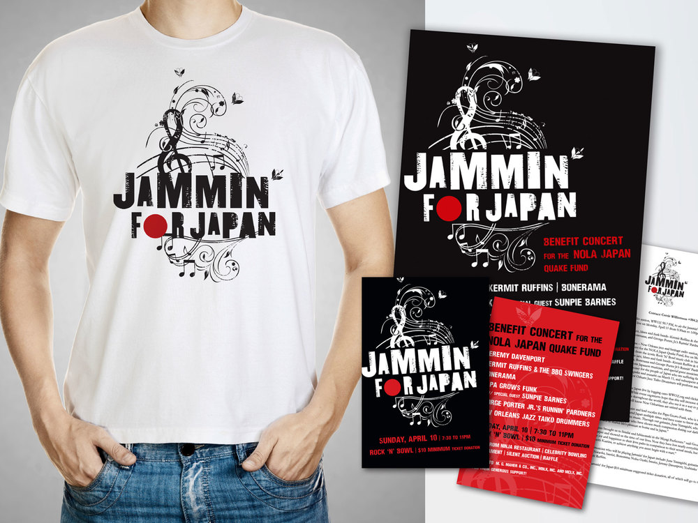 Jammin' for Japan was a benefit concert that raised money for the people of Japan who suffered from the catastrophic effects of the earthquake and tsunami. Our award-winning event marketing campaign was instrumental in helping to make it a major success. The campaign included branding, social media, word-of-mouth marketing, public relations and corporate outreach.