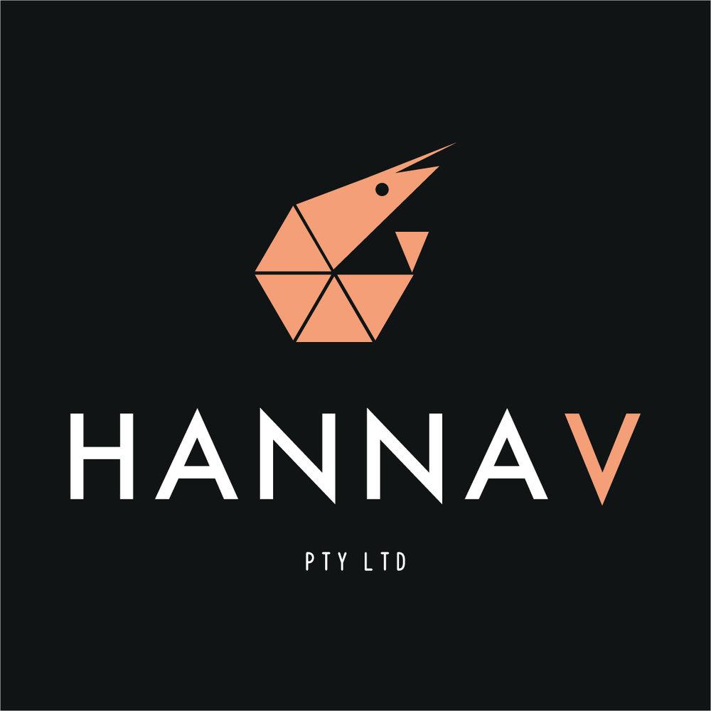 Logo Design, Branding, Hanna V Prawns