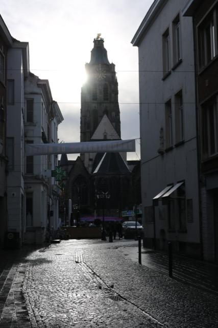 Oudenaarde during the evening hours.