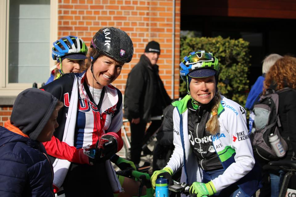 Tayler and I rode in the break together for over half the race,never saying a word to each other. Then after the race, we were all hugs and smiles.