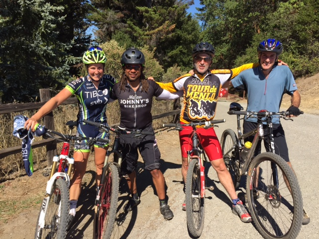 2015: Finding new trails in Los Altos on a full-suspension mountain bike. The smiles are real.
