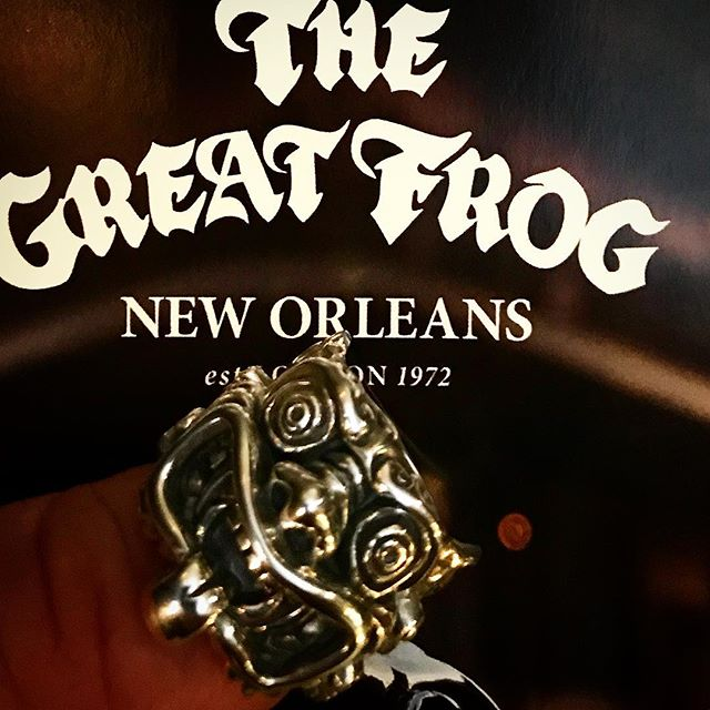 Lucky to find #thegreatfrog pop-up shop in #neworleans today and purchase the #bratstyle collaboration ring! @jeffpalhegyidesign