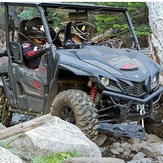 #yamahamotorusa #wolverinex2 #yamahawolverine on the rubicon! Amazing and  tough, the #wolverine and the #rubicontrail @jeffpalhegyidesign