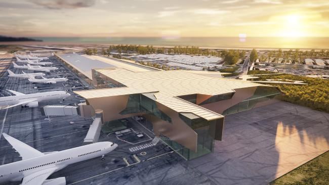 An artist's impression of the Gold Coast airport redevelopment plans