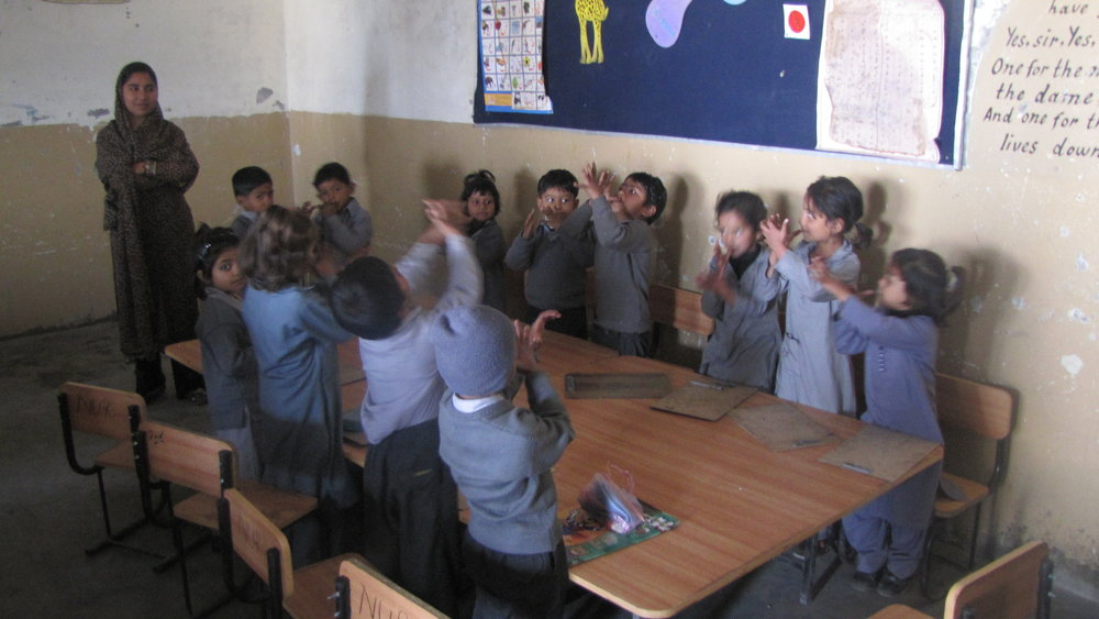 Students at a HDF school in Pakistan supported by Couture for a Cause.