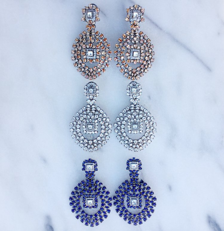 Statement chandelier earrings aim kamal beverly hills statement chandelier earrings aim aloadofball Choice Image