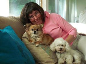Pamela with Kushi and Brady