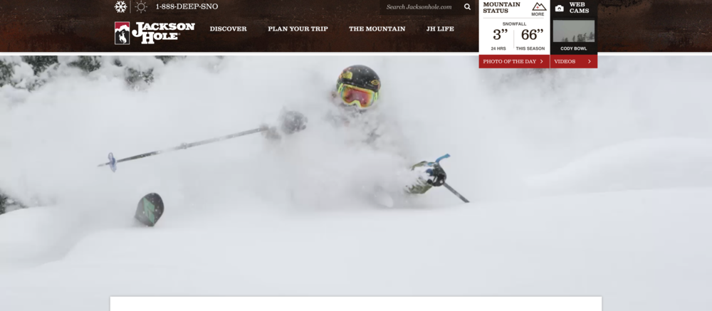 15 Second Looping Video Background for JAckson hole mountain Resort.