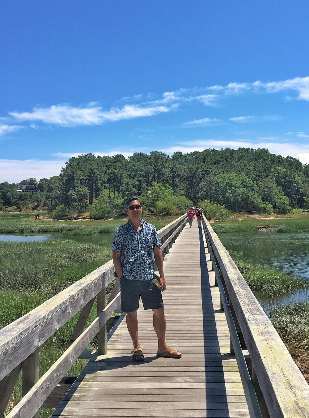 Should I stay or should I go? Uncle Tim's Bridge in Wellfleet.