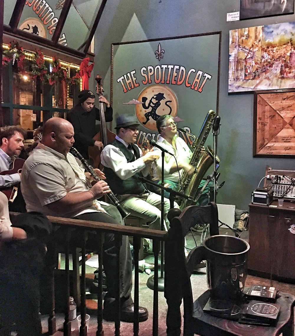 "New Orleans Cottonmouth Kings crooning Cole Porter's "" Night and Day""."