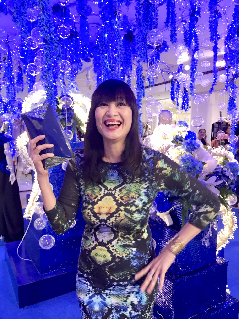 Myrza Sison is loving my Blue Melissa Minaudière.