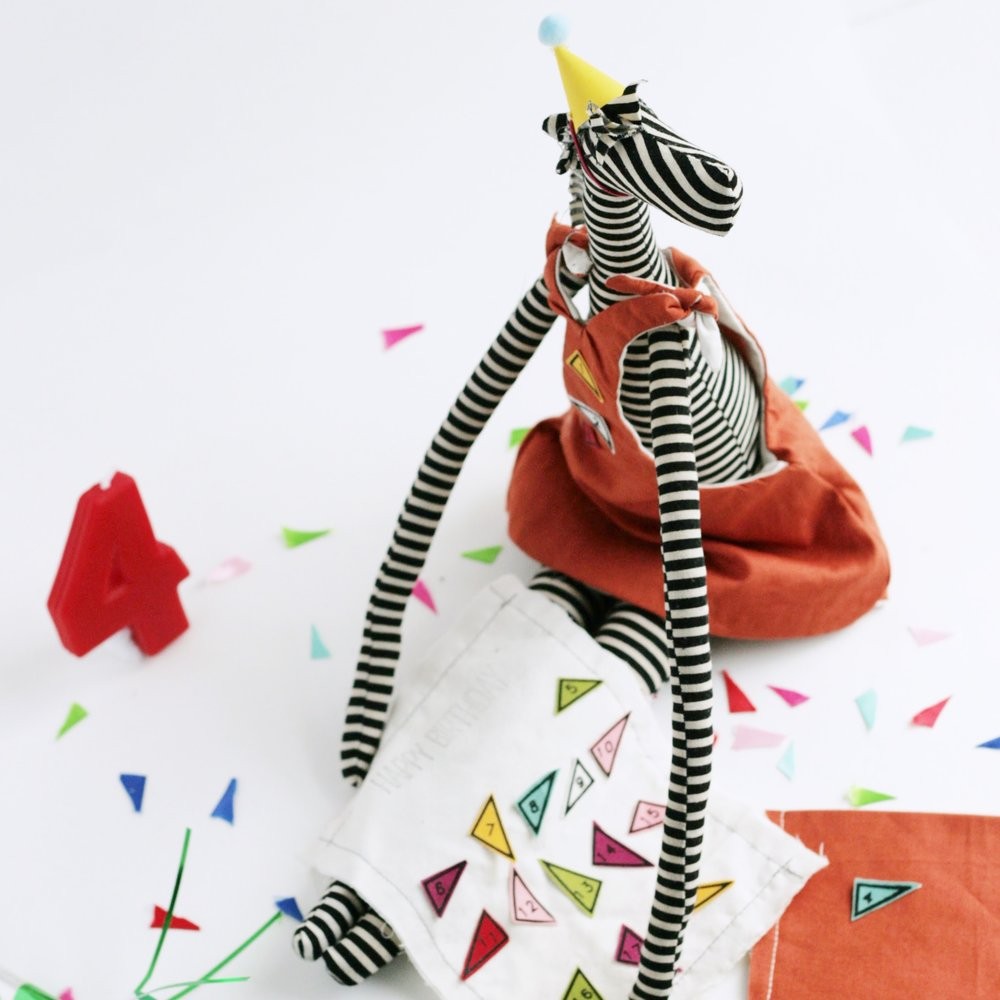 Zebra Birthday Doll