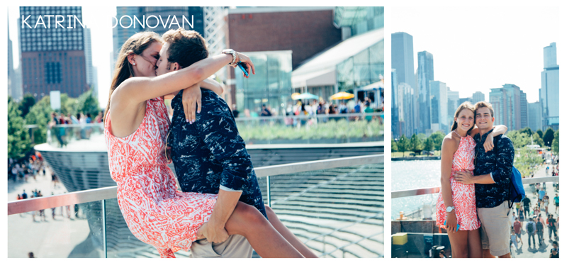 Found the cutest couple at Navy Pier.  Asked for a Cell Phone photo...I gave them a nice portrait!
