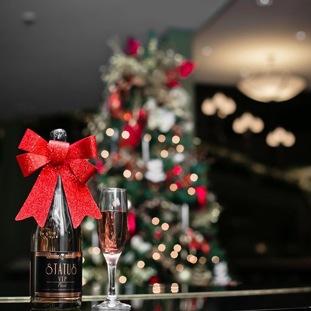 Let the Holiday Part Begin!!! Tonight's choice will be none other than VIP by STATUS!  Cheers! 🎁🎄🥂🍾 • • • • • #whatsyourstatus #christmaseve #xmas #party #family #friends #goodvibesonly #almosttime #joytotheworld #snow #winter #lights #litmas #wine #sparklingwine #holidaycocktails #newyears