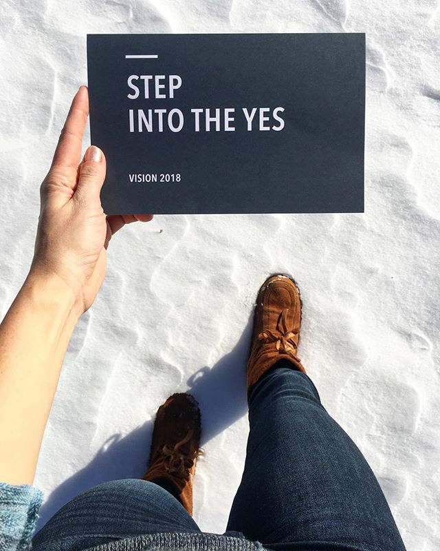 "2018 is a year to step into the ""YES"". To think less and act more. To hold less and give more. In saying YES to one thing, we say NO to another. I say YES to owning my path and to trusting the winding wild road before me. I say NO to the fear and doubt that's robbed my YES for far long enough. . . . What is your YES this year, now, finally, and forever? ...It's been a long time coming hasn't it!! You know it in your heart ❤️ . . . ""For our light and momentary troubles are achieving for us an eternal glory that far outweighs them all. So we fix our eyes not on what is seen, but on what is unseen, since what is seen is temporary, but what is unseen is eternal."""