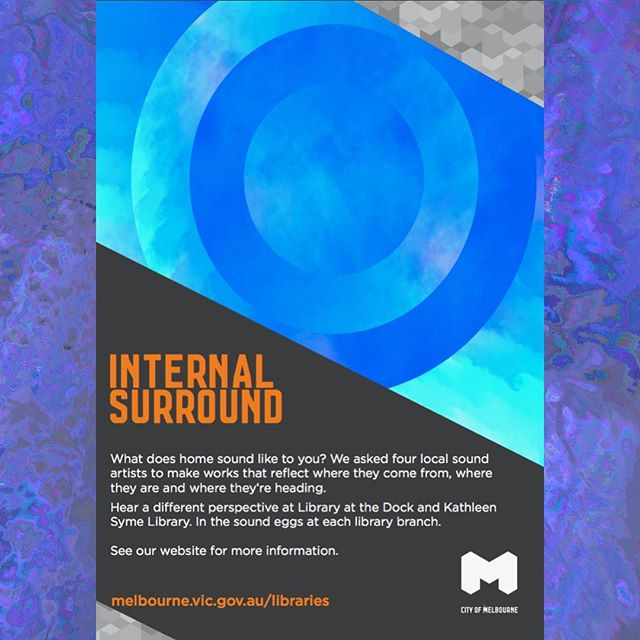 Hey all! Something really exciting that I've been working on for a long time is open today, 🔈INTERNAL SURROUND🔈 at Library at the Dock and Kathleen Syme Library!! 💫🌟💫🌟💫 I've curated 4 great artists (@kifch @hannnahwu , @dvisn and @andorism) to create close and intimate works for 5.1 surround egg chairs. I'm so proud of this project, and I want as many people as possible to hear these beautiful sonic creations.  This Friday the 23rd of march at 4:30 at Library at the Dock I will be MCing a discussion with two of the artists, Keith Chang and Hannah Wu. It should be a REALLY interesting discussion about the creative process of putting these works together. (hope to see a few of you there!)