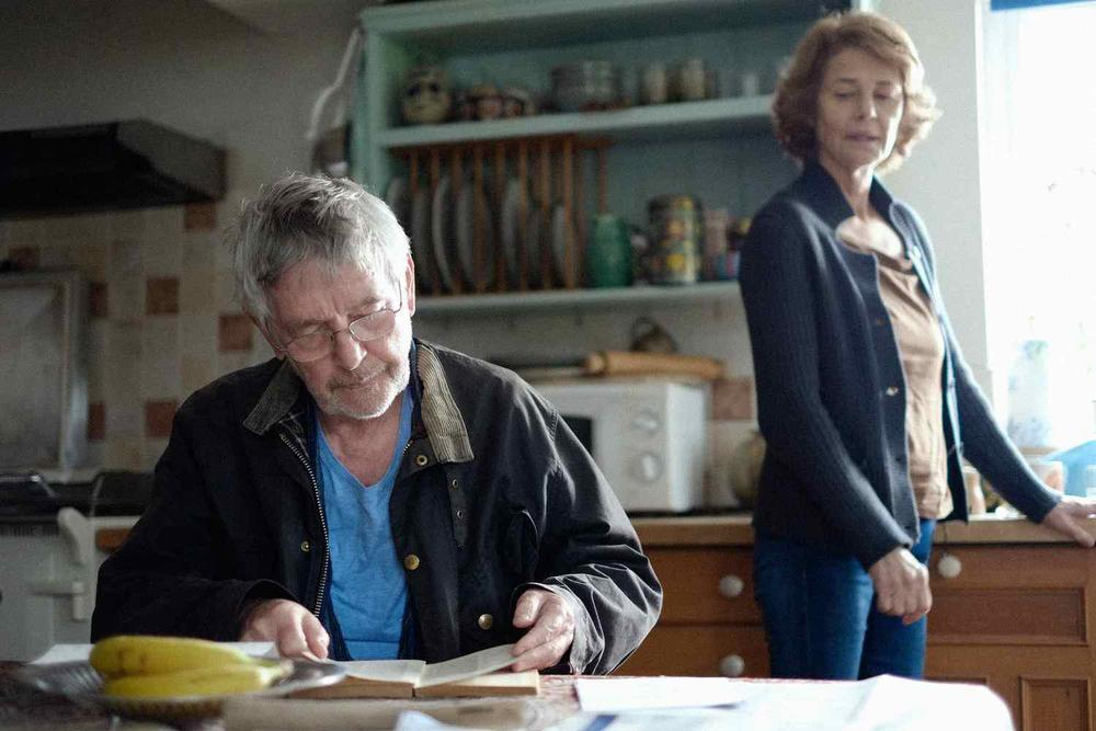 Tom Courtenay as Geoff and Charlotte Rampling as Kate in 45 Years