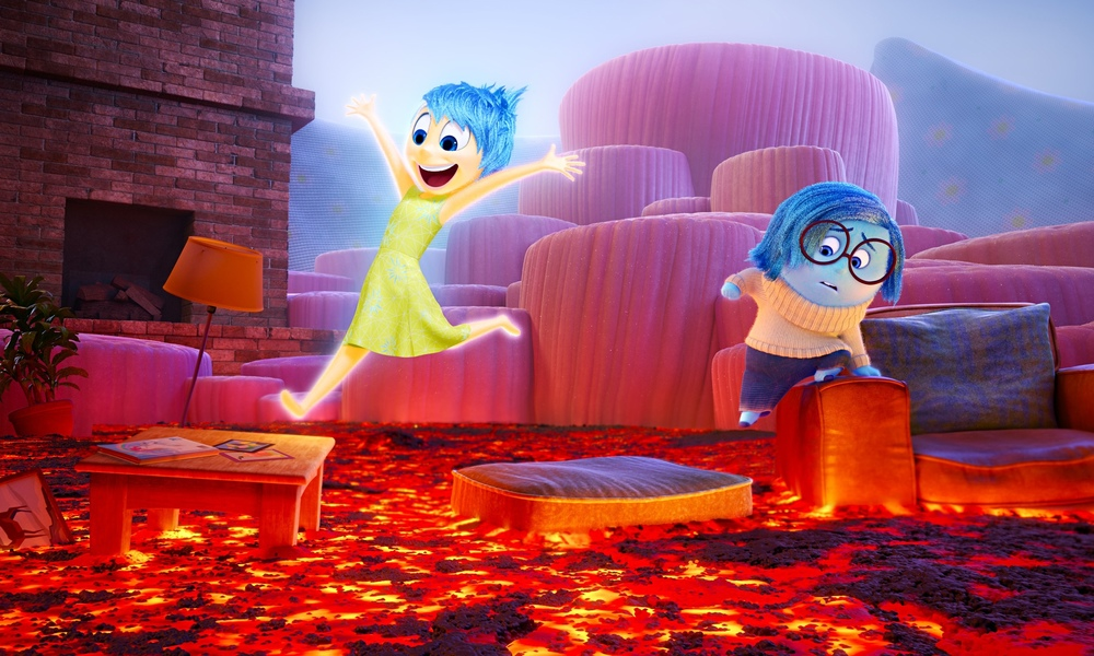 Amy Poehler voices Joy and Phyllis Smith voices Sadness in  Inside Out.