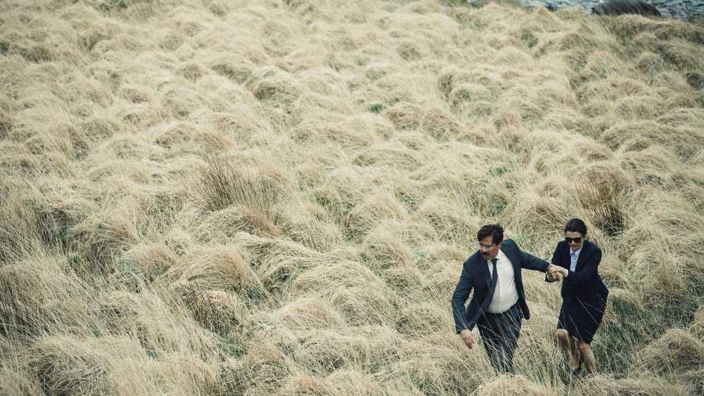Colin Farrell and Rachel Weisz in  The Lobster  (2015).